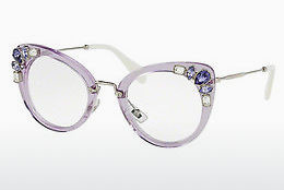 brille Miu Miu MU 05PV U691O1 - Transparent, Purpur