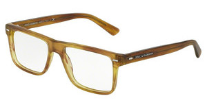 Dolce & Gabbana DG3227 2948 STRIPED MATTE HONEY