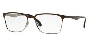 Ray-Ban RX6344 2862 TOP BRUSHED DARK BROWN ON GUNM