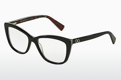 brille Dolce & Gabbana DG3190 2940 - Sort, Flowers
