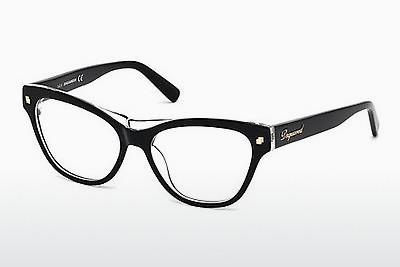 brille Dsquared DQ5197 003 - Sort, Transparent