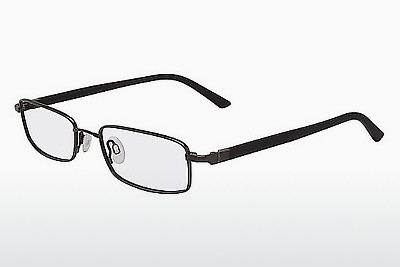 brille Flexon 665 001 - Sort, Chrome