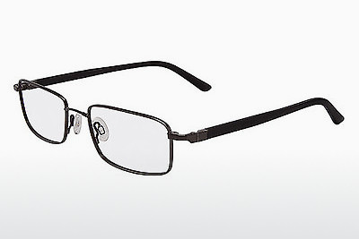 brille Flexon 666 001 - Sort, Chrome