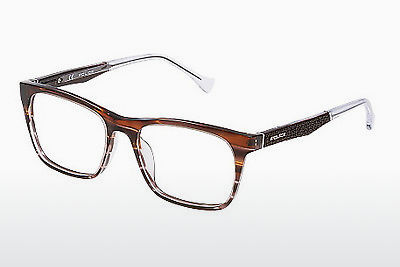 brille Police CLOSE UP 6 (VPL056 0C00) - Brun, Havanna