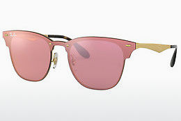 solbrille Ray-Ban Blaze Clubmaster (RB3576N 043/E4) - Rosa, Gull
