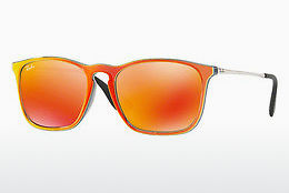 solbrille Ray-Ban CHRIS (RB4187 63206Q) - Grå, Oransje