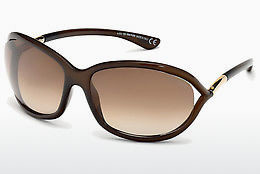 solbrille Tom Ford Jennifer (FT0008 692) - Brun, Dark, Shiny