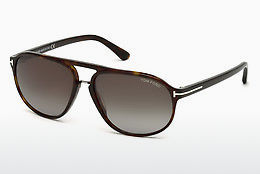 solbrille Tom Ford Jacob (FT0447 52B) - Brun, Dark, Havana