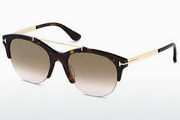 solbrille Tom Ford Adrenne (FT0517 52G) - Brun, Dark, Havana
