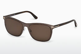 solbrille Tom Ford Alasdhair (FT0526 48J) - Brun, Dark, Shiny