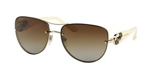 Bvlgari BV6053BM 278/T5 POLAR BROWN GRADIENTPALE GOLD