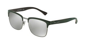 Dolce & Gabbana DG2148 12796G LIGHT GREY MIRROR SILVERMATTE GREEN/GUNMETAL