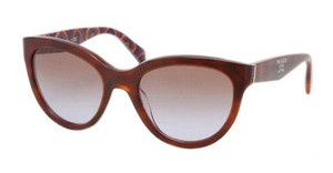 Prada PR 05PS MAU6P1 BROWN GRADIENTTOP HAVANA/HEXAGON