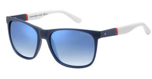 Tommy Hilfiger TH 1281/S FMC/DK FLASH BLUE SKYBLUREDWHT (FLASH BLUE SKY)