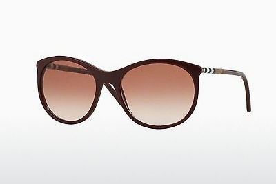 solbrille Burberry BE4145 340313 - Rød, Bordeaux