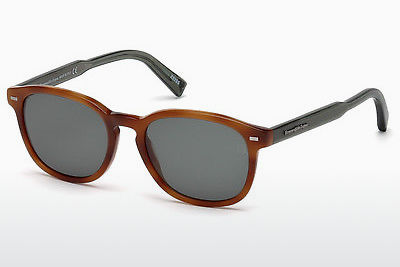 solbrille Ermenegildo Zegna EZ0005 53N - Havanna, Yellow, Blond, Brown