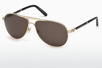 solbrille Mont Blanc MB512S 30J - Gul