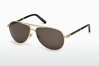solbrille Mont Blanc MB512T 30J - Gul
