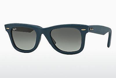 solbrille Ray-Ban WAYFARER LEATHER (RB2140QM 116871) - Blå
