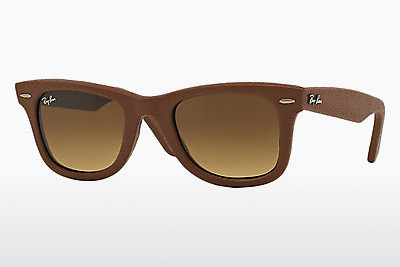 solbrille Ray-Ban WAYFARER LEATHER (RB2140QM 116985) - Brun