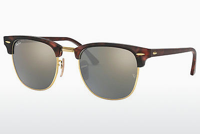 solbrille Ray-Ban CLUBMASTER (RB3016 114530) - Brun, Havanna, Sort, Sand