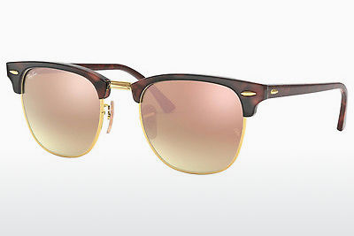 solbrille Ray-Ban CLUBMASTER (RB3016 990/7O) - Brun, Havanna