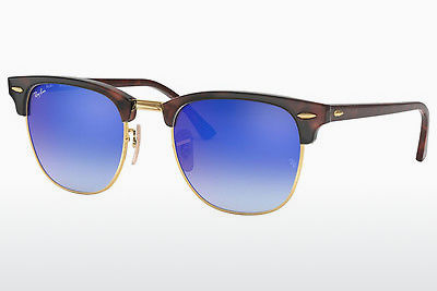 solbrille Ray-Ban CLUBMASTER (RB3016 990/7Q) - Brun, Havanna