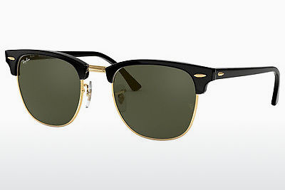 solbrille Ray-Ban CLUBMASTER (RB3016 W0365) - Sort, Gull