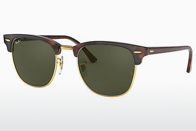 solbrille Ray-Ban CLUBMASTER (RB3016 W0366) - Sort, Brun, Havanna