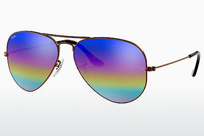 solbrille Ray-Ban AVIATOR LARGE METAL (RB3025 9019C2) - Grå, Brun