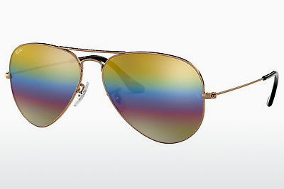 solbrille Ray-Ban AVIATOR LARGE METAL (RB3025 9020C4) - Grå, Brun