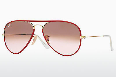 solbrille Ray-Ban AVIATOR FULL COLOR (RB3025JM 001/X3) - Gull, Rød