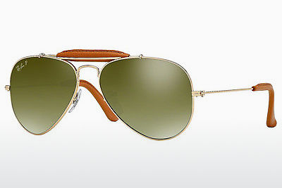 solbrille Ray-Ban AVIATOR CRAFT (RB3422Q 001/M9) - Gull, Brun