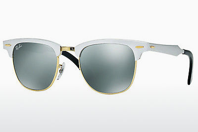 solbrille Ray-Ban CLUBMASTER ALUMINUM (RB3507 137/40) - Hvit