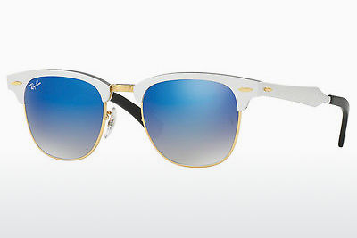 solbrille Ray-Ban CLUBMASTER ALUMINUM (RB3507 137/7Q) - Hvit