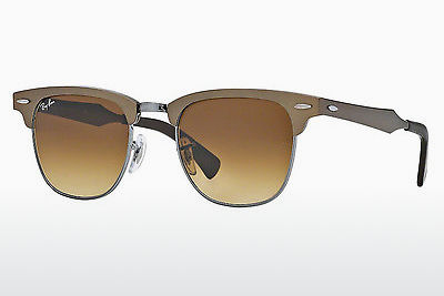 solbrille Ray-Ban CLUBMASTER ALUMINUM (RB3507 139/85) - Brun, Grå