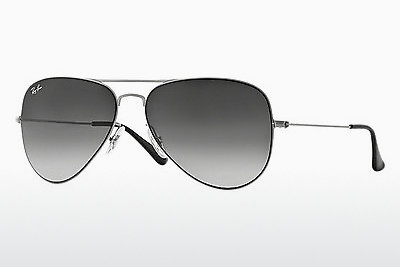 solbrille Ray-Ban AVIATOR FLAT METAL (RB3513 154/8G) - Sølv
