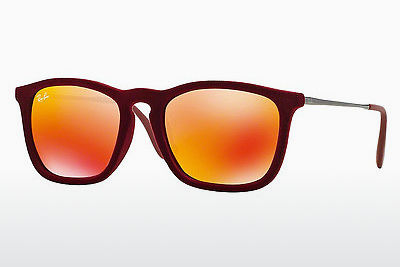 solbrille Ray-Ban CHRIS (RB4187 60786Q) - Rød