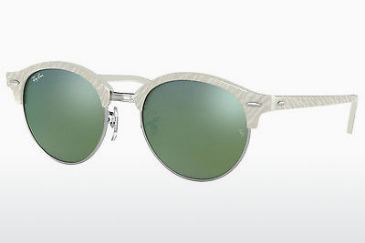 solbrille Ray-Ban Clubround (RB4246 988/2X) - Hvit