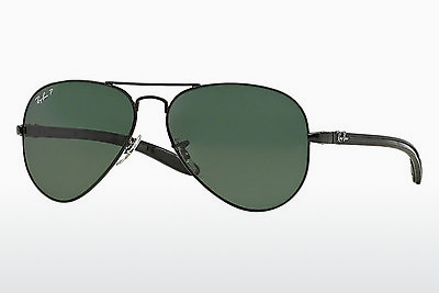 solbrille Ray-Ban AVIATOR TM CARBON FIBRE (RB8307 002/N5) - Sort