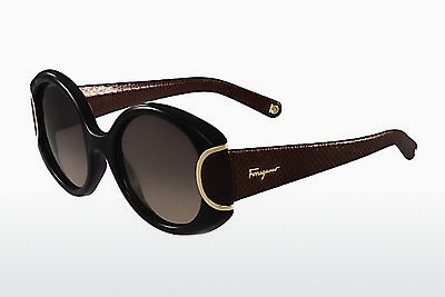 solbrille Salvatore Ferragamo SF811SL SIGNATURE 960 - Sort
