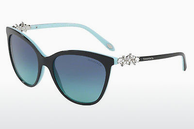 solbrille Tiffany TF4131HB 80559S - Sort, Blå