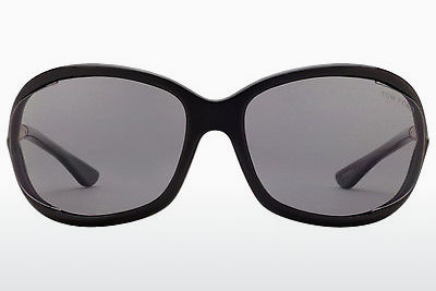solbrille Tom Ford Jennifer (FT0008 01D) - Sort, Shiny