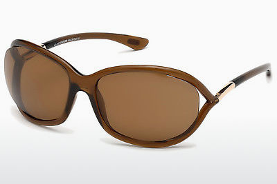 solbrille Tom Ford Jennifer (FT0008 48H) - Brun, Dark, Shiny