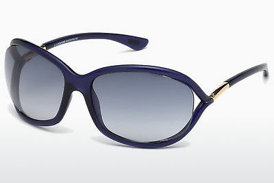 solbrille Tom Ford Jennifer (FT0008 90W) - Blå, Shiny