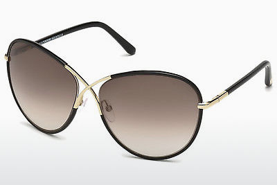 solbrille Tom Ford Rosie (FT0344 01B) - Sort, Shiny