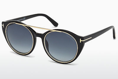 solbrille Tom Ford Joan (FT0383 01W) - Sort, Shiny