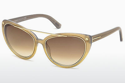 solbrille Tom Ford Edita (FT0384 34F) - Bronse, Bright, Shiny
