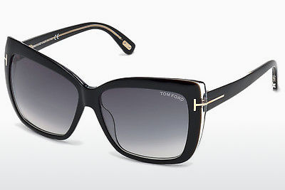 solbrille Tom Ford Irina (FT0390 01B) - Sort, Shiny