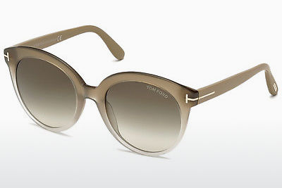 solbrille Tom Ford Monica (FT0429 59B) - Horn, Beige, Brown